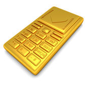 Gold phone — Stock Photo
