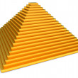 Golden pyramid — Stock Photo