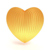 Abstract gold heart — Stock Photo