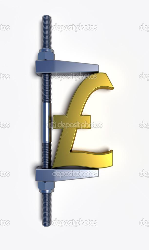 значок фунта стерлинга: