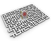 迷宫-目标 — 图库照片