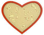 Heart - wooden background — Stock Photo