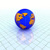 Globe over grid — Stock Photo