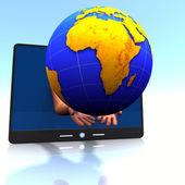 áfrica, almofada, mãos — Foto Stock