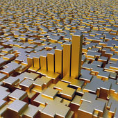 Gold cubes background — Stock Photo