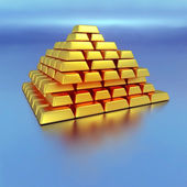Gold bricks — Stock Photo