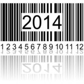 2014 on the barcode — Stockvektor