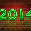 New Year as neon light — Stock Photo