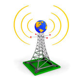 Abstract wireless tower — Stock Photo