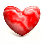 Red marble heart — Stock Photo