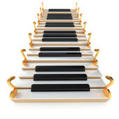 Piano stairway and notes — Stok fotoğraf