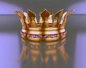 Crown with diamond — Stock Photo