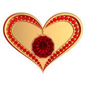 Heart symbol with ruby gems — Stock Photo