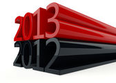 3D new year 2013 — Stock Photo