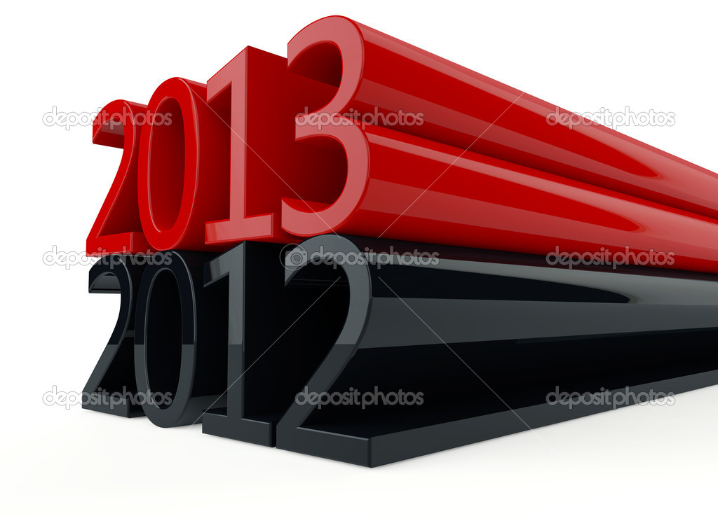 3D new year 2013 on white background — Stock Photo #14132293