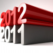 New year 2012 stands on 2011 — Stock Photo #6653976