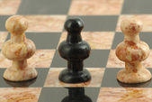 The traitor peon in chess — Stock Photo