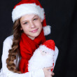 Girl Santa — Stock Photo #15625033