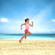 Little girl running - Stock Photo