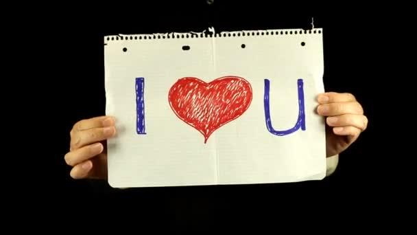 Te quiero. — Vídeo de stock