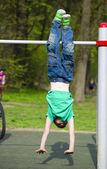 Little boy playing sports — Stock Photo