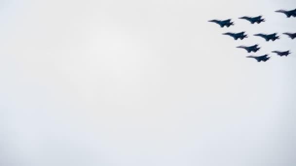 Aviation vol cérémonial dans le ciel — Vidéo