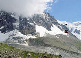 View from the cabel car to the Aiguille du Midi. — Stock Photo