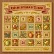 Vintage Christmas Advent Calendar — Stock Vector