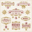 Stock Vector: Vintage Christmas Labels