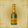 Retro Champagne Bottle — Stock Vector