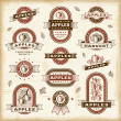 Vintage apple labels set — Stock Vector #19944677