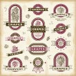 Vintage grapes labels set - Stock Vector
