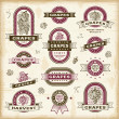 Royalty-Free Stock Vector Image: Vintage grapes labels set