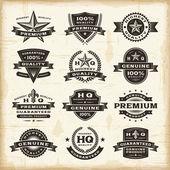 Vintage premium kvalitet etiketter set — Stockvektor