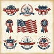 Vintage American labels set — Stock Vector