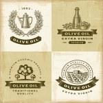 Vintage olive oil labels set — Stock Vector