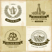 Vintage olive oil labels set — Vetorial Stock