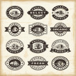 Vintage organic farming stamps set — Stock Vector #32524937