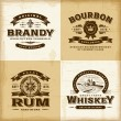 Vintage alcohol labels set — Stock Vector #43709105