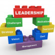 3d leadership building blocks — Stock Photo