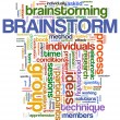 Brainstorm  word tags — 图库照片