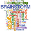 Brainstorm  word tags — Stockfoto