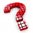 3d blocks question mark symbol — Stock Photo