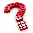 3d blocks question mark symbol — Stock Photo