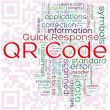 QR-code word tags — Foto de Stock