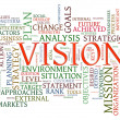 Vision word tags — Stock Photo