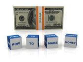 Cómo ganar dinero — Foto de Stock