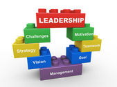 3d leadership building blocks — Stock Photo
