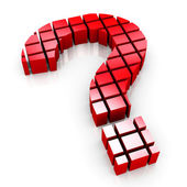 3d blokları soru işareti simgesi — Stok fotoğraf
