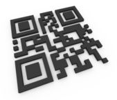 3d qr code (matrix barcode) — Stock Photo